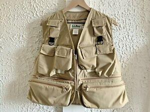 Vintage LL Bean Fly Fishing Vest - Men's Khaki Made in USA (See Measurements)
