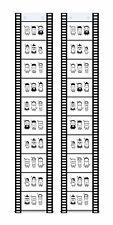 2 Fototaschen Fotohalter Fotovorhang Filmstreifen Querformat 10x15 für 10 Fotos