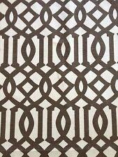 SCHUMACHER KELLY WEARSTLER Imperial Trellis II java cream screen print linen 1.5