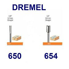 DREMEL ROUTER BIT 2 PIECE SET FOR ALL ROTARY TOOLS 650, 654