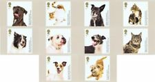 GB 2010 PHQ Cards Mint Set~Battersea Cats & Dogs~(10)~PHQ-333~UK Seller