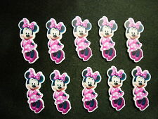 Cake Decoration Plastic Push-on Figures Birthday Craft x10 - MINNIE MOUSE