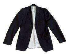 Versus Versace Mens Blazer Jacket Black Made in Italy Size 34 48 UK 38 Striped