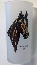 Vintage 1953 Kentucky Derby Hill Gail Frosted Mint Julep Glass Churchill Downs