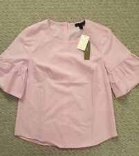 Nwt Jcrew Petite button-back bell-sleeve top Lavender Size 0P G3251 SOLD OUT!