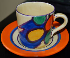 Clarice Clff Pebbles Coffee Can and Saucer Excellent Condition No Damage Rest'n