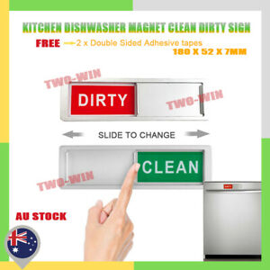 Clean Dirty Dishwasher Magnet Indicator Sign with a Non Scratch Magnetic Backing