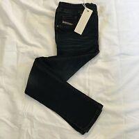 Diesel Prezoy Girls Age-8 Slim Straight Dark Blue Jeans Jeggings BNWT 2324 KXARG