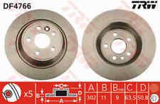 TRW Rear Pair Brake Discs DF4766 - BRAND NEW - GENUINE - 5 YEAR WARRANTY