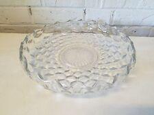 Vintage American Fostoria Pressed Glass Serving Platter with Raised Edge