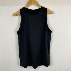 Lorna Jane Womens Tank Top Size L Large Black Sleeveless Round Neck