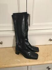 Piudi Servas Womens Black Tall Fleece Lined Waterproof Dress Boots Size 37 EUC