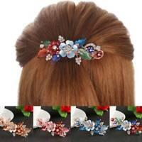 Women Resin Crystal Flower Barrettes Cute Hairpin Headwear Hair Accessories