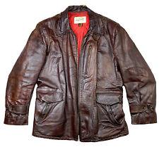 Hercules barnstormer vintage horsehide caballos cuero chaqueta de cuero marrón 52 L