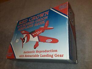 Spec Cast 1994 Red Crown Gasoline Lockheed Orion Airplane Bank Die Cast