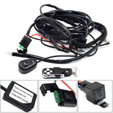 12V Car Remote Control Flash Strobe 2Lead LED Light Wiring Harness Accessories