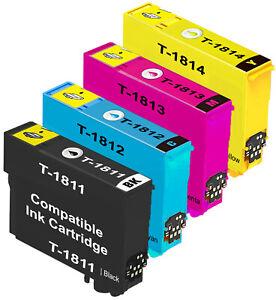 18 18XL Compatible Ink Cartridges for Epson XP225 XP215 XP212 XP405