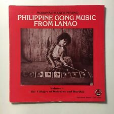 PHILIPPINE GONG MUSIC FROM LANAO ~ LYRICHORD LP ~ TRAD. MUSIC  ~ GREAT STUFF