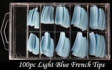 100pc Colour French Nail Tips fingernails Fake False Acrylic UV Gel manicure