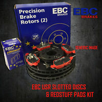 NEW EBC 271mm REAR USR SLOTTED BRAKE DISCS AND REDSTUFF PADS KIT PD07KR091