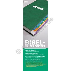 BIBEL-GRIFFREGISTER SCM - Mehrfarbig (Uni-Bibelregister) - mit Apokryphen °CM°