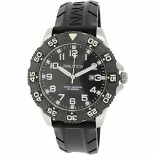 Nautica Black Resin Watch, Date, 100 Meter WR, Rotating Bezel, N12643G