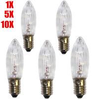 10x LED E10 Glühbirne Topkerze Spitzkerze Ersatzbirne warmweiß E1-0 0,2W Birne