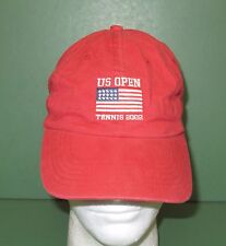 2002 United States Us Open Tennis Baseball Style Hat Adjustable Red