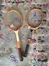 Vintage Wooden Tennis Racquets Wilson Aggressor Magnan Falcon
