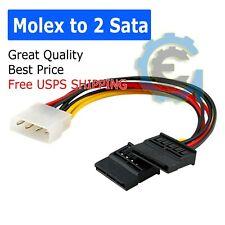 "Molex to SATA Power Cable Splitter Adapter Extension, 8"" 20cm"