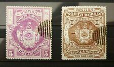 North Borneo 1899 High Value (A) MH