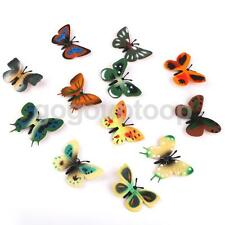 12pc Plastic Butterfly Bug Insect Animal Figures Kids Children Education Toy