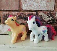 Hasbro My Little Pony G3 Guava Lava Milkshake & Bow Tie Dazzle Bright 2002 2004