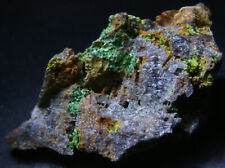 Super RARE Torbernite, Autunite and phosphuranylite on matrix! Uranium minerals