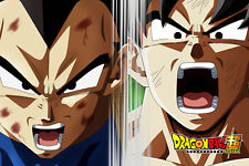 Dragon Ball Super Poster Vegeta and Goku Yelling 12in x 18in Free Shipping