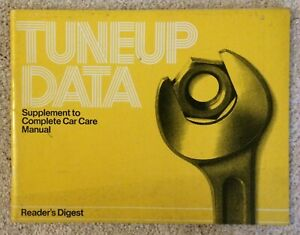 Reader's Digest Tuneup Data Domestic/Import 1972-1981