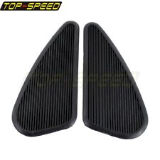 Motorcycle Vintage Style Slim Gas Tank Knee Pads Side Panels Rubber Universal
