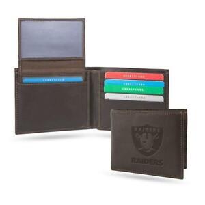 Las Vegas Raiders Sparo PREMIUM Authentic Embossed Leather Billfold Wallet NFL