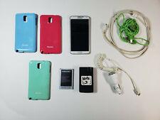Samsung Galaxy Note 3 32 GB White Sprint SM-N900V Bundle with Extras