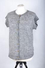 L127/50 Noa Noa Grey Wool/Kid Alpaca Blend Short Sleeved Cardigan, size M