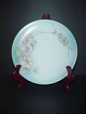 Antique Bavaria Porcelain Cabinet Plate Flowers