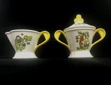 Vintage Metlox Poppytrail Homestead Provincial Cow Creamer & Sugar Set U5