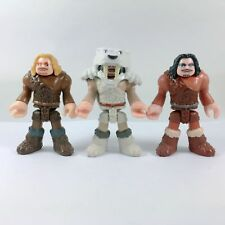 3pcs IMAGINEXT ULTRA ICE T-REX CAVEMAN FIGURES replacement Fisher Price