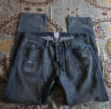 Men's Gap NSF Ripped & Repaired Distressed Slim Button Fly Jeans 33x32
