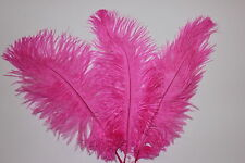 "PACK OF 5 HOT PINK  SOFT FLOSS 9-10""  (22-25 CM ) OSTRICH FEATHERS  FIRST GRADE"