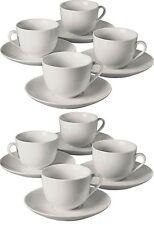16PC porcellana tè tazze e piattini Set Tè Tazza di Caffe 'Lavastoviglie & nel forno a microonde