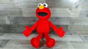 """Vintage 2001 Fisher Price Sesame Street Guess What Elmo Plush 20"""" Tested Talks"""