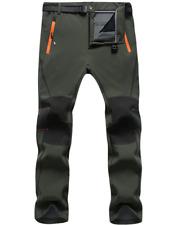 Lakaka-EU Mens Warm Hiking Trousers Softshell Waterproof Windproof Fleece Lined