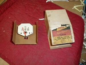 NOS MOPAR 1961-68 DODGE TRUCK OIL GAUGE W/ EGG SHELL