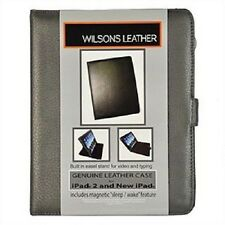 Wilsons Genuine Leather Folio Case for ipad 2 & ipad 3 (Color: Pewter)